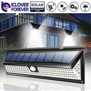 118-LED-Lampara-Solar-Jardin-Exterior-Patio-impermeable-Luz-de-Pared-Sensor-De-Movimiento-Infrarrojo