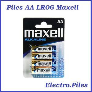Piles-batons-AA-LR06-de-marque-Maxell-expedition-rapide-et-gratuite