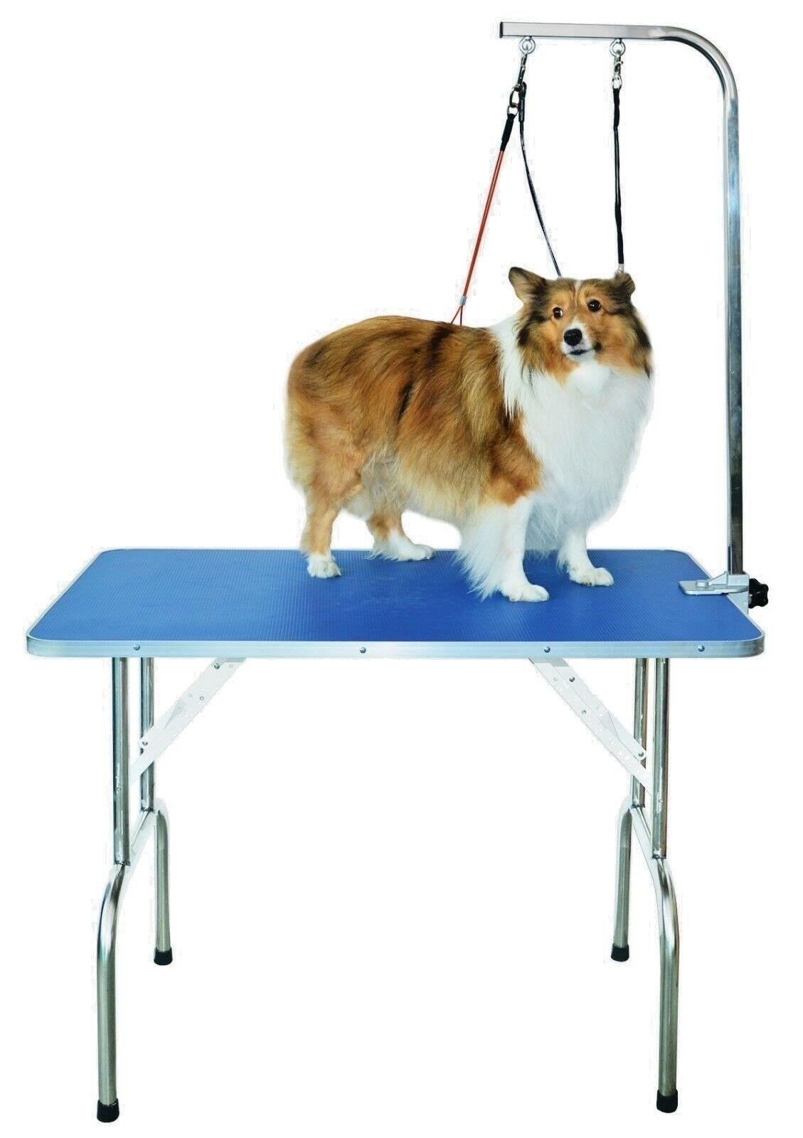 Tavolo da Toelettatura per professionale con doppia pinza e i guinzagli per cani Piccolo Medio