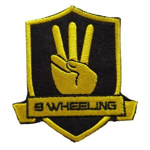 Official-3-Wheeling-Iron-on-Patch-Sew-on-Sidecar-Racing-Brand-Isle-of-Man-TT