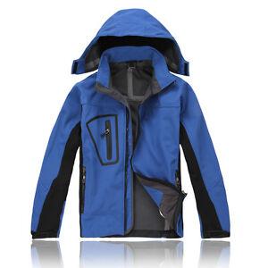 Mens Soft Shell Jacket Thick Fleece Lining Winter Coats Waterproof ...