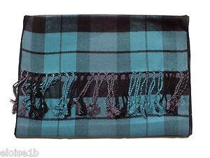 Fantastica nero sciarpa tartan con scozzese in tartan motivo lilla blu FF8qrwR