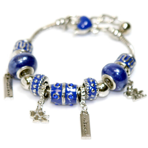 University Of Kentucky Wildcats Beaded Charm Bracelet