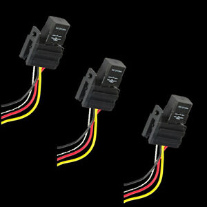 lot3 car truck 30a 12v relay kit for electric fan fuel pump lightdetails about lot3 car truck 30a 12v relay kit for electric fan fuel pump light horn 4p 4 wire