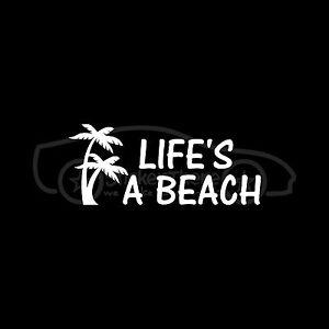 LIFE-039-S-A-BEACH-Sticker-Cute-Girlie-Vinyl-Decal-Ocean-Sand-Salt-Water-Palm-Tree