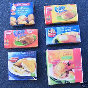1:12 Échelle 6 Aliments Surgelés Paquets Maison De Poupées Miniature Cuisine