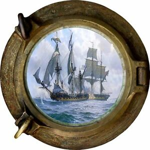 Huge-3D-Porthole-Fantasy-Pirate-Ship-View-Wall-Stickers-Film-Decal-496