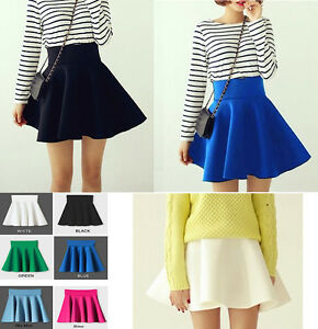 Mini-Gonna-Donna-Vita-Alta-Space-Cotton-Mini-Skater-Ball-Skirts-130010C