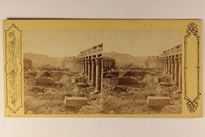 Egitto-Foto-Pascal-Sebah-Costantinopoli-Stereo-Vintage-Albumina-c1865