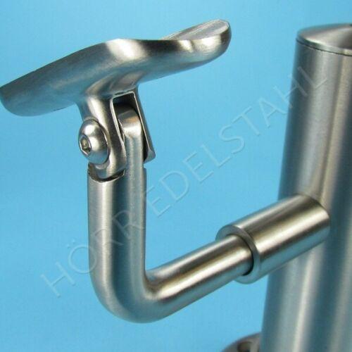 Handrail Carrier Side Hinge for Post Pipe Ø 42,4 mm Stainless Steel Handrail