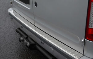 Para-adaptarse-a-Ford-Transit-Conectar-2002-12-Protector-De-Parachoques-Cromo-Cero-Guardia