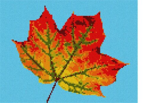 Leaf Up Close Needlepoint Kit or Canvas Tree//Nature//Floral//Flower