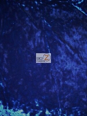 """CRUSHED STRETCH VELVET COSTUME FABRIC - Royal - 54""""/55"""" WIDTH SOLD BY THE YARD"""