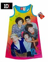 Sz 7/8 Girl's One Direction Pajama Gown Pink Blue, Niall, Harry Louis 1d