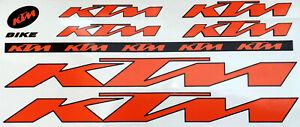 KTM-Sticker-Set-Decals-Bike-Bicycle-Stickers-Logo-venyl-decal-Graphic-Orange