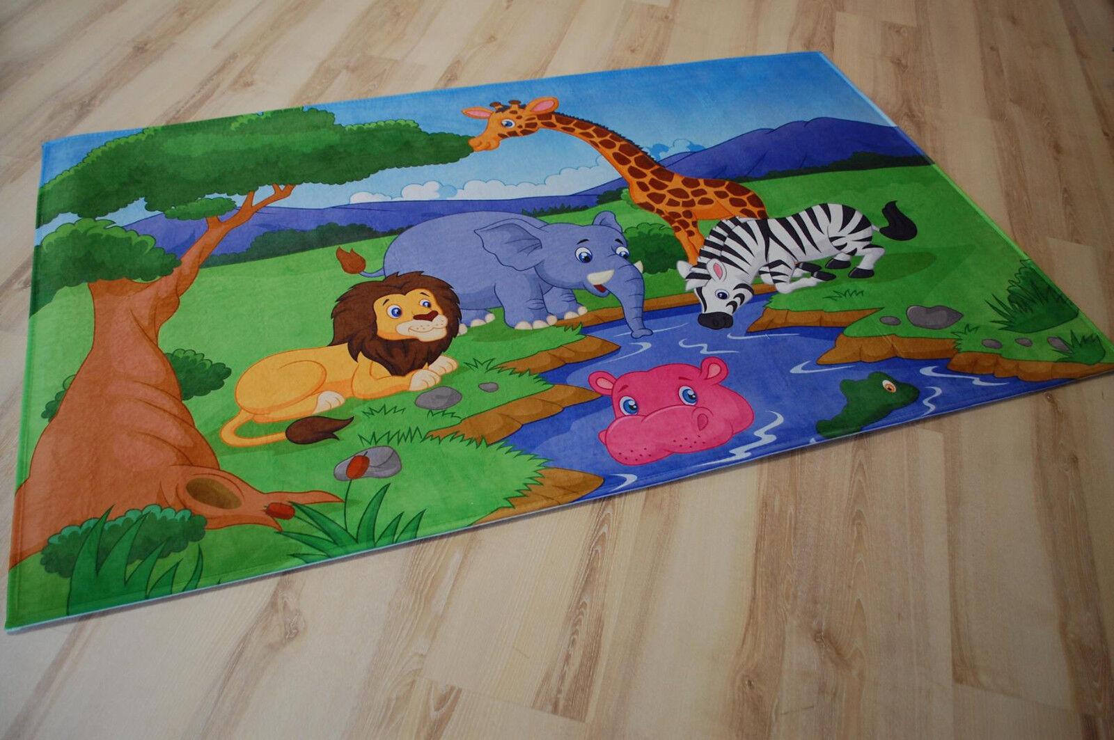 Enfants Tapis de Jeu Charmant Enfants Animaux Zoo 100x160 cm LK-403