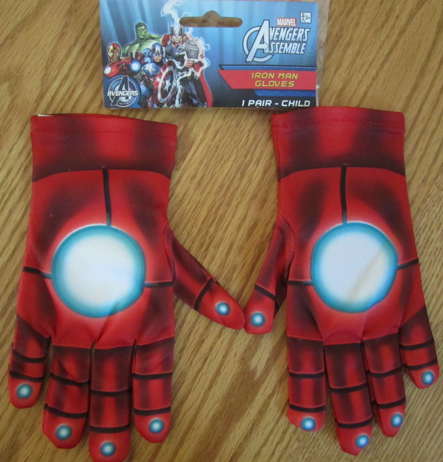 The Avengers Age of Ultron Iron Man Adult Gloves Marvel Comics New Rubies 35659