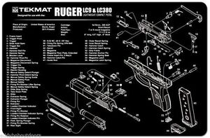 Tek Mat For Ruger LC9 & LC380 Armorers Bench Mat Exploded View ...