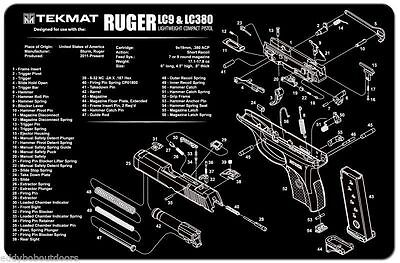Tek Mat For Ruger Lc9 Amp Lc380 Armorers Bench Mat Exploded
