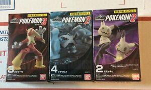 "Pokémon Shodo 3/"" Inch Figure Lot of 3 Blaziken Mewtwo /& Armored Mewtwo"