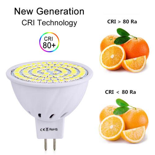 LED Spotlight Bulb MR16 GU10 E27 4W 6W 8W 2835 SMD 110V 220V 12V Bright Lamp RK