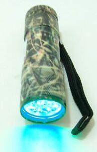 WOODLAND-CAMO-9-LED-Hunting-Flashlight-Color-may-vary-GREEN-LED-LIGHT