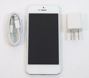 Good-Used-Apple-iPhone-5-16GB-Unlocked-GSM-AT-amp-T-T-Mobile-A1428-or-A1429-Silver