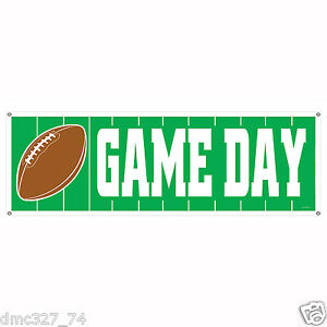 1-FOOTBALL-Tailgate-Super-Bowl-Party-Decoration-GAME-DAY-Sign-Banner-60-x-21