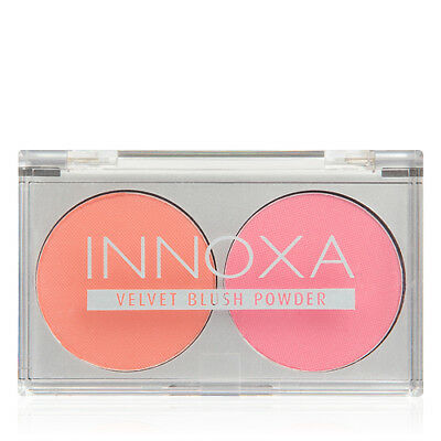 NEW Innoxa Blush Duo Rose and Berry Face Makeup Cosmetic Natural Makeup Brush