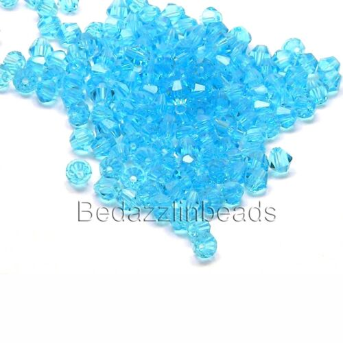 Lot of 50 Bedazzlinbeads 4mm Glass Double Cone Faceted Bicone Beads