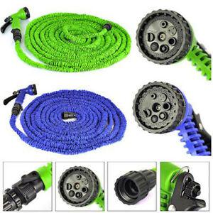 Expandable-Flexible-Garden-Water-Hose-Pipe-w-Spray-Nozzle-Gun-25-50-75-100-FT