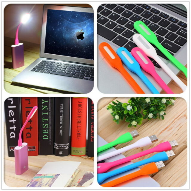 Flexible USB LED Light  Lamp For Computer Laptop Notebook PC Power Bank New ID