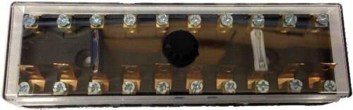 ROBINSON 12V 24V 10 WAY CIRCUIT CONTINENTAL FUSE BOX HOLDER DUAL VOLTAGE K310
