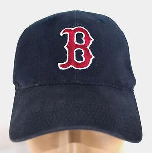 72d4e1aeddc MLB Men BOSTON RED SOX NAVY Adjustable Baseball Cap Lid B Logo 100 ...