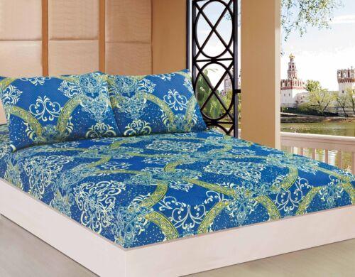 Tache Dark Star Gazing Blue Luxurious Damask Fancy Deep Pocket Fitted Sheet Only