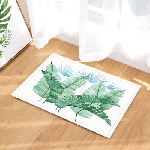 Tropical Branch Banana Palm Leaves Non Slip Rug Carpet Bedroom Bathroom Door Mat