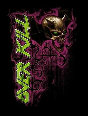 OVERKILL cd lgo GOTHIC BATWINGS Official BABYDOLL SHIRT MED New oop