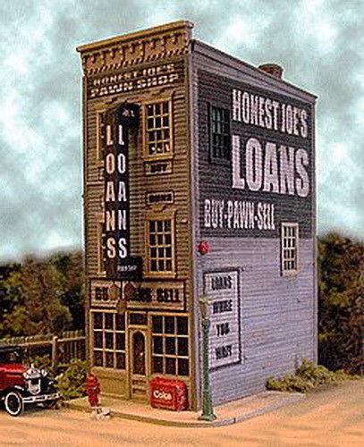 BAR MILLS MILLS MILLS costruzioneS 442 HO Honest Joe's Pawn Loan Laser Cut modello Railstradaing 26e961