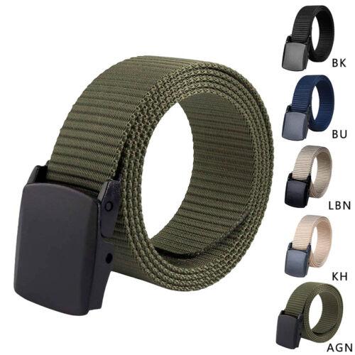 Men Outdoor Sports Military Tactical Nylon Waistband Canvas Web Adjustable Belt