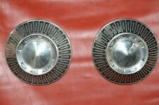 1965 1967 Ford Galaxie Fairlane 105 Hubcaps Dog Dish Oem Used Pair