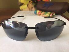 NEW Maui Jim Sunglasses BREAKWALL Polarized Gloss Black 422-02