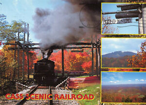 Carte-ETATS-UNIS-CHARLESTON-Cass-scenic-Railroad-state-park-Train