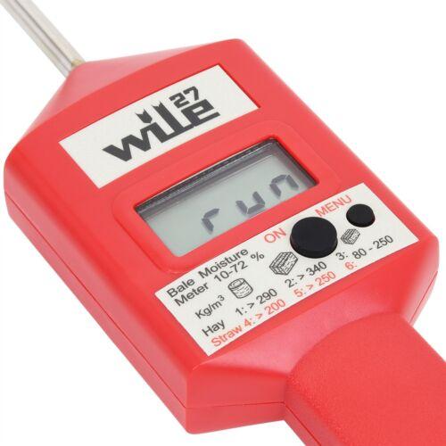 Wile 27 Feuchtigkeitsmessgerät Heu Stroh Silage Feuchtemesser Feuchtemessgerät