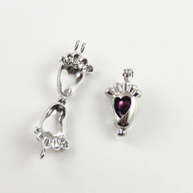 Hollow Heart Look Silver Color Alloy Locket Box Pendants Jewelry Crafts 6pcs//lot