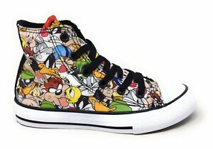 Converse-Youth-CTAS-OX-Looney-Tunes-Skate-Shoes-Multi-White-Size-12