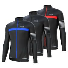 "FDX Mens ""ALL DAY"" Cycling Jersey Long Sleeve Top Thermal MTB Winter Jackets"