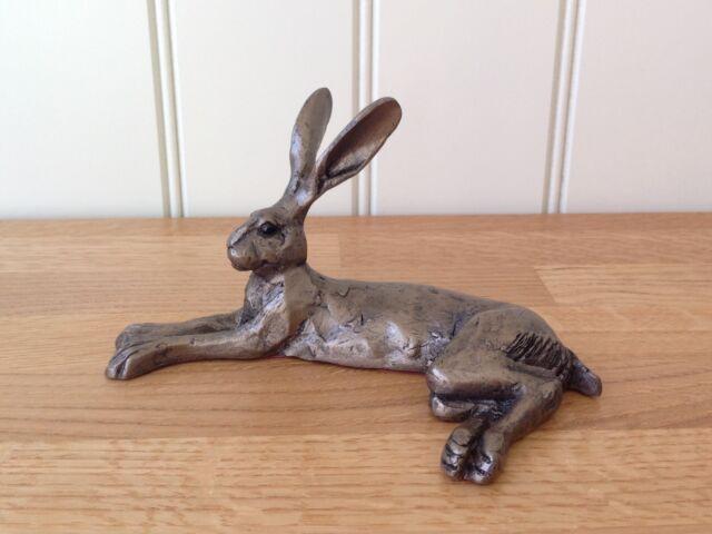 HATTIE HARE Alert Sitting Frith Cold Cast Bronze Sculpture PAUL JENKINS Animal