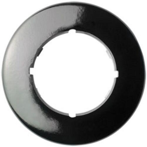 Abdeckrahmen rund 1 fach Bakalit schwarz für Schalter und Steckdose  THPG
