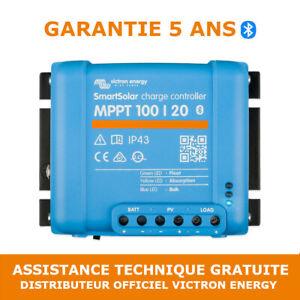 Victron Smart Solar MPPT 100/20 Contrôleur de Charge Solaire - SCC110020060R