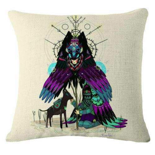 """18/"""" Cotton Linen Art Girl Decorative Throw Pillow Case Cushion Cover Sofa Car"""